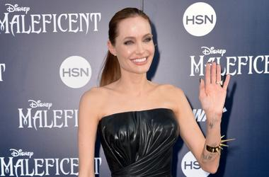 """HOLLYWOOD, CA - MAY 28: Actress Angelina Jolie arrives at the World Premiere Of Disney's """"Maleficent"""" at the El Capitan Theatre on May 28, 2014 in Hollywood, California."""