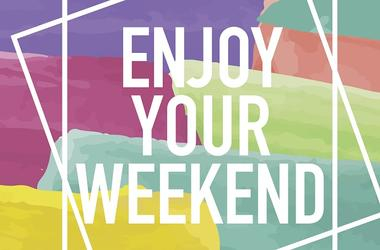 Enjoy Your Weekend Poster - stock vector