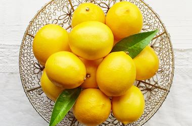 Bowl of Lemons, Fresh, Ripe