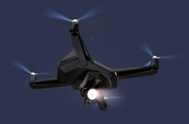 Drone, Flying, Night, Sky, Dark