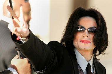 : Singer Michael Jackson walks into the Santa Maria Superior Court on the fifth day of his child molestation trial in 2005.