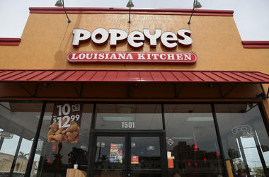 Storefront of Popeye's Chicken restaurant