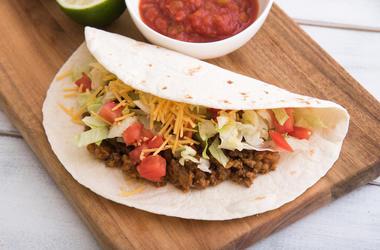 Taco, Soft Taco, Beef, Tortilla