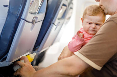 Baby, Father, Daughter, Airplane, Infant, Crying, Cabin, Vacation, Plane, Flying
