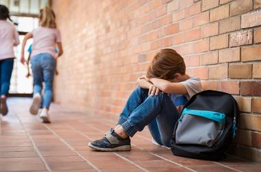 Bullying, Boy, Sitting, Floor, Sad, Bully, School