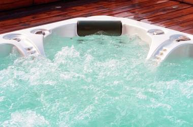 Hot Tub, Bubbles, Water, Deck