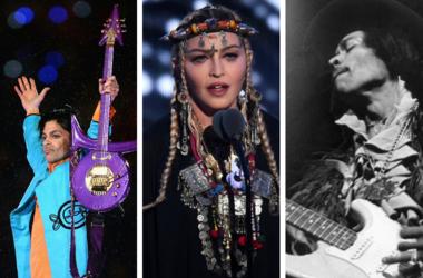 Prince, Madonna, Jimi Hendrix