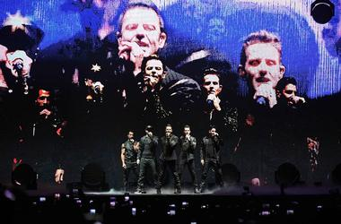 Jul 16, 2017; Hollywood, FL, USA; New Kids on the Block perform at the Hard Rock Live