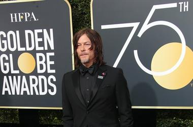 Jan 7, 2018; Beverly Hills, CA, USA; Norman Reedus arrives for the 75th Golden Globe Awards at the Beverly Hilton.