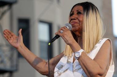 June 10, 2017; Detroit, MI, USA; Aretha Franklin performs on the Madison Central stage during the Detroit Music Weekend in Detroit