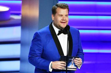 Sep 17, 2018; Los Angeles, CA, USA; James Corden presents the award for outstanding directing for a limited series during the 70th Emmy Awards at the Microsoft Theater