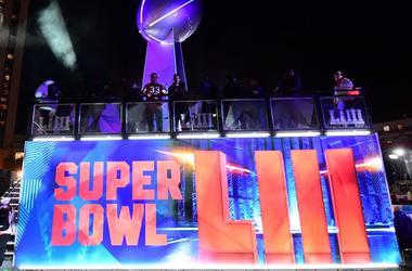 Jan 31, 2019; Atlanta, GA, USA; General overall view of replica Vince Lombardi trophy at Super Bowl LIII live at Centennial Park