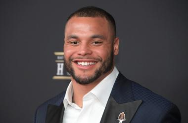 Feb 2, 2019; Atlanta, GA, USA; Dak Prescott during red carpet arrivals for the NFL Honors show at the Fox Theatre.