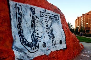 University of Tennessee, The Rock, Paint, Homemade Shirt