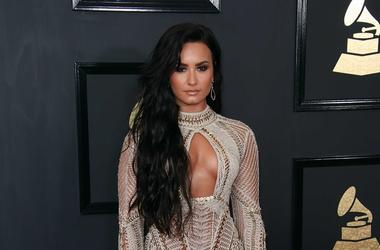 Feb 12, 2017; Los Angeles, CA, USA; Demi Lovato arrives at the 59th Annual Grammy Awards at Staples Center