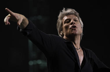 Jon Bon Jovi, Concert, Pointing, BB&T Center, Sunrise, FL, 2017
