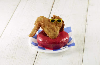 Big Red Chicken Bread wing with donut