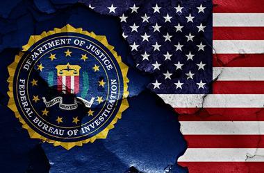 Flag of FBI and USA
