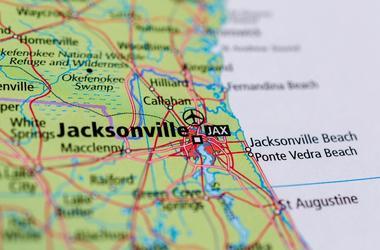 Jacksonville, Florida on map