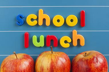 School lunch concept