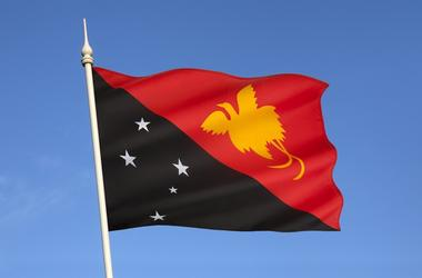Flag of Papua New Guinea - South East Asia