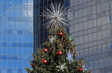 Christmas tree at Sundance Square in Fort Worth (2013)