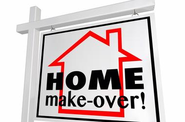 Home Make-Over House Real Estate Sign Remodeling
