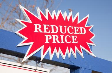 Red Reduced Price Burst Sign