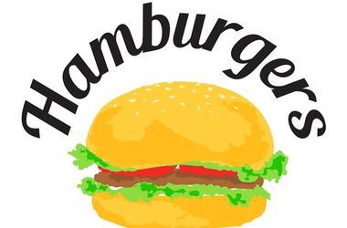 Hamburgers sticker