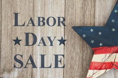 Retro Labor Day Sale message