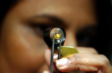 Yellow Diamond, Lupe, Examination, Magnifying Glass, 2004