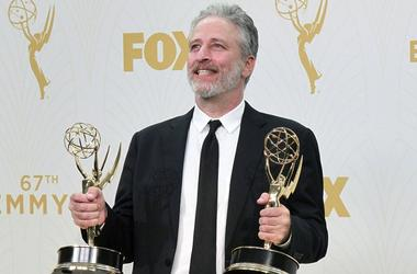 20 September 2015 - Los Angeles, California - Jon Stewart. 67th Annual Primetime Emmy Awards Press Room held at Microsoft Theater.