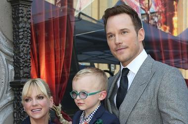 Chris Pratt, Anna Faris and son Jack Pratt