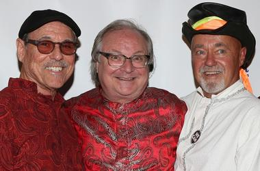 Ed King (center) with members of Strawberry Alarm Clock