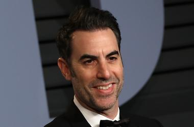 Sacha Baron Cohen on the red carpet at the 2018 Vanity Fair Oscar Party hosted by Radhika Jones held at the Wallis Annenberg Center for the Performing Arts in Beverly Hills on March 4, 2018