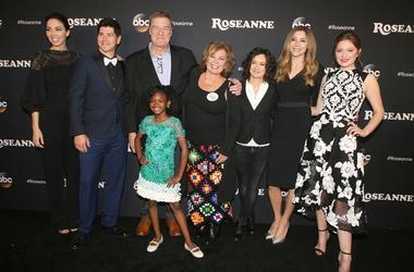 "23 March 2018 - Burbank, California - Whitney Cummings, Michael Fishman, John Goodman, Roseanne Barr, Sarah Gilbert, Sarah Chalke, Emma Kenney, Jayden Rey. ""Roseanne"" Premiere Event held at Walt Disney Studios"