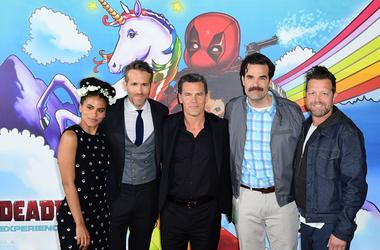 5/10/2018 - Zazie Beetz, Ryan Reynolds, Josh Brolin, Rob Delaney and director David Leitch attending a photocall for Deadpool 2, held at the Empire Casino in Leicester Square, London.