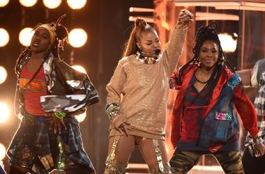 LAS VEGAS, NV - MAY 20: Janet Jackson performs on the 2018 Billboard Music Awards at MGM Grand Garden Arena on May 20, 2018 in Las Vegas, Nevada