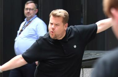 6/19/2018 - James Corden during filming for The Late Late Show, at Methodist Central Hall, London.