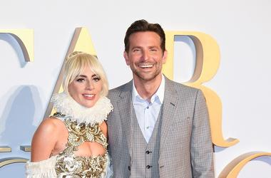9/27/2018 - Lady Gaga and Bradley Cooper attending the UK Premiere of A Star is Born held at the Vue West End, Leicester Square, London