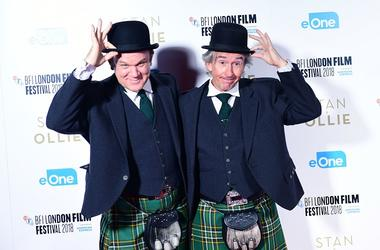 10/21/2018 - John C. Reilly and Steve Coogan attending the Stan and Ollie Premiere as part of the BFI London Film Festival at the Cineworld Cinema in London