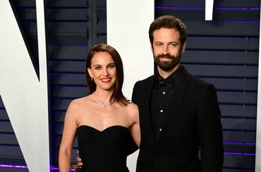Caption: 2/24/2019 - Natalie Portman and Benjamin Millepied attending the Vanity Fair Oscar Party held at the Wallis Annenberg Center for the Performing Arts in Beverly Hills, Los Angeles, California, USA
