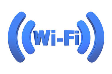 Wi-fi. Station, white