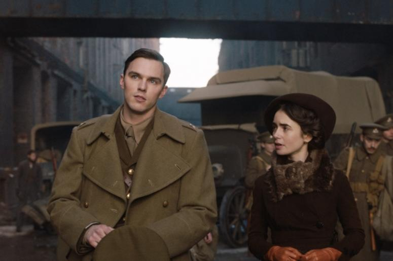 """Nicholas Hoult and Lily Collins in a scene from """"Tolkien"""""""