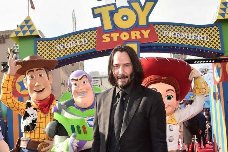 HOLLYWOOD, CA - JUNE 11: Keanu Reeves attends the world premiere of Disney and Pixar's TOY STORY 4 at the El Capitan Theatre in Hollywood, CA on Tuesday, June 11, 2019.