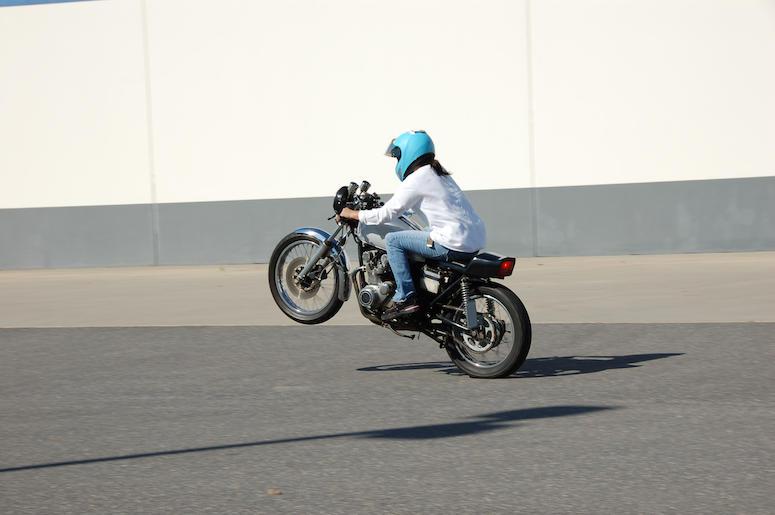 Motorcycle, Street, Road, Wheelie