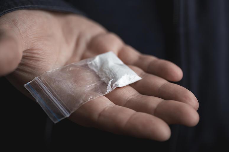 Cocaine, Drugs, Baggie, Dealer, Plastic Bag, Hand