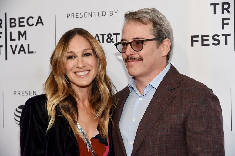 """NEW YORK, NY - APRIL 22: Sarah Jessica Parker and Matthew Broderick attend a screening of """"To Dust"""" during the 2018 Tribeca Film Festival at SVA Theatre on April 22, 2018 in New York City"""