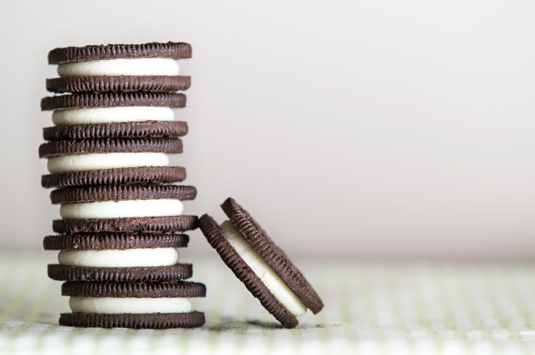 Stack of Oreo cookies