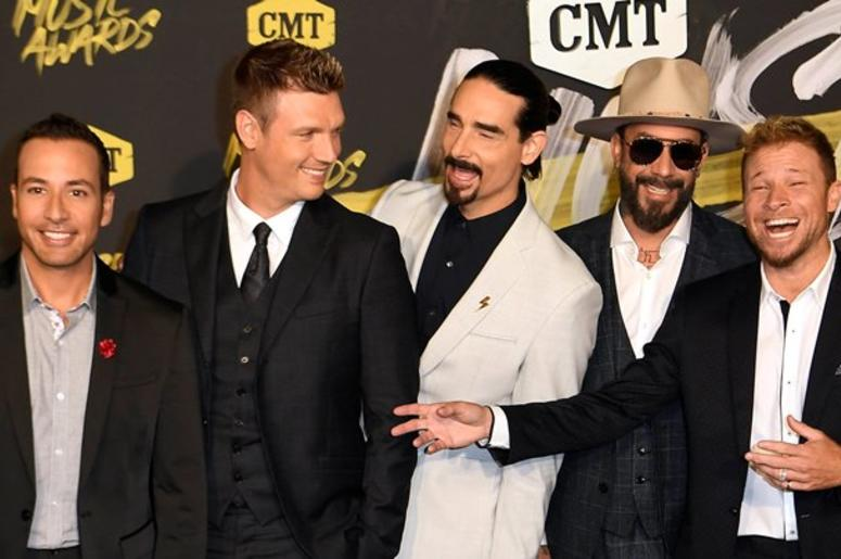 June 6, 2018; Nashville, TN, USA; Backstreet Boys on the red carpet prior to the CMT Music Awards at Bridgestone Arena.